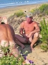 Shameless exhibitionist have selfless sex on sandy beach