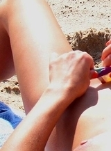 Hidden cam fixed hot Bikini on beach